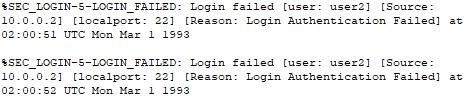 failed login