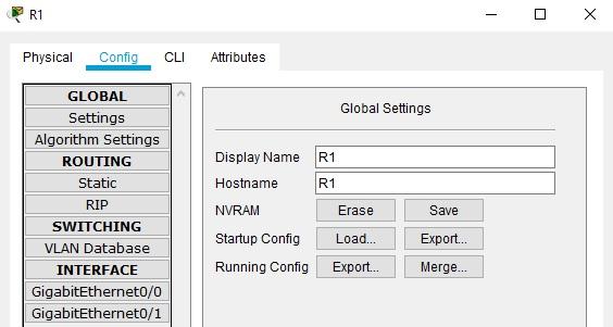 save configuration router