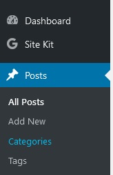 Categories WordPress
